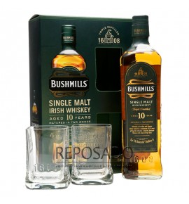 Bushmills 10 Years Old with Glasses 0,7L (Бушмилс 10 лет со стаканами 0,7л)