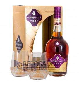 Courvoisier VSOP With 2 Glasses 0,7L (Курвуазье ВСОП + 2 Стакана 0,7л)