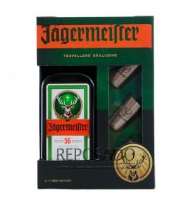 Jagermeister 1L + 3 metal chot (Егермейстер 1л + 3 металлические шота)