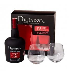 Dictador 12 YO With 2 Glasses 0.7L (Диктатор 12лет + 2 Стакана 0.7л)