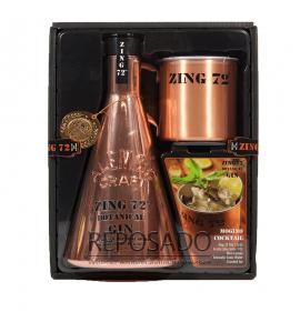 Zing 72 gift box 0,7L (Джин Зинг 72 подарочная упаковка + железная кружка 0,7л)