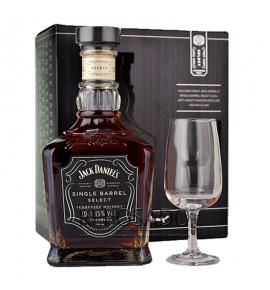 Jack Daniel's Single Barrel Nosing Glass Gift Pack 0.7 (Виски Джек Дэниэлс Сингл Баррел + стакан 0.7л)