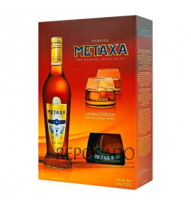 Metaxa 7* with Glasses 0,7L (Метакса 7 звезд с бокалами 0,7л)