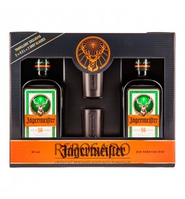 Jagermeister 2x0,5L + 2 Shot Glasses (Егермейстер 2х0,5л + 2 шота)